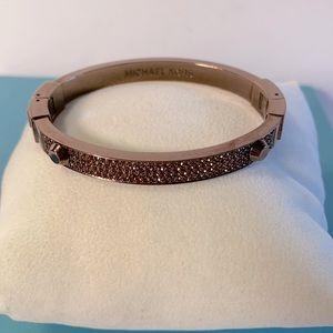 Michael Kors Bronze Tone Astor Pave Bracelet